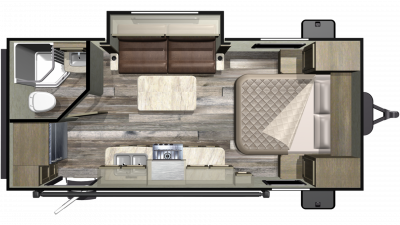 2019 Mossy Oak Lite 21FBS Floor Plan Img