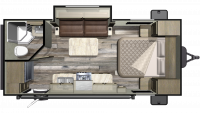 2019 Mossy Oak Lite 21FBS Floor Plan