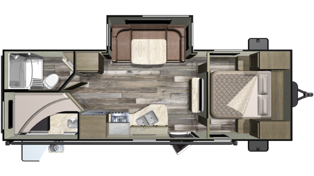 2019 Mossy Oak Lite 24ODK Floor Plan