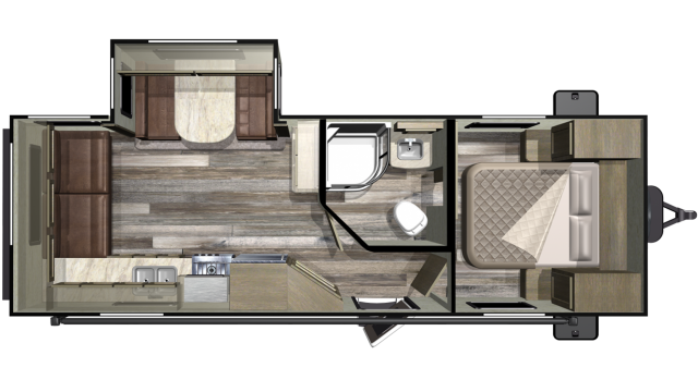 2019 Mossy Oak Lite 24RLS Floor Plan
