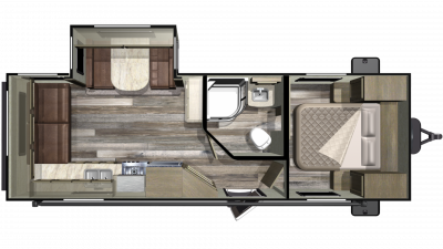 2019 Mossy Oak Lite 24RLS Floor Plan Img
