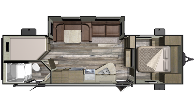 2019 Mossy Oak Lite 27BHU Floor Plan