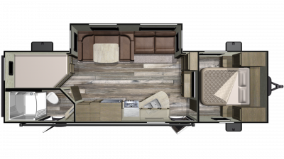 2019 Mossy Oak Lite 27BHU Floor Plan Img