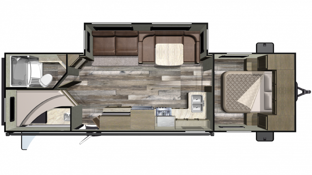 2019 Mossy Oak Lite 283BH Floor Plan Img
