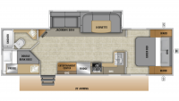 2019 Mossy Oak Lite 283BH Floor Plan