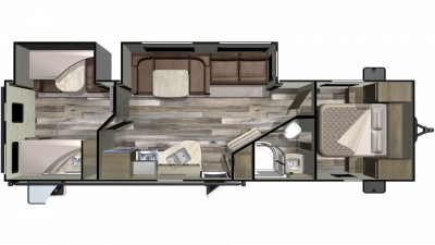 2019 Mossy Oak Lite 31BHS Floor Plan Img
