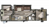 2019 Mossy Oak Lite 31BHS Floor Plan