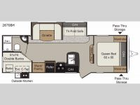2018 Passport 2670BH Floor Plan