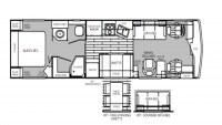 1996 Discovery 36A Floor Plan