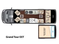 2016 Airstream Interstate GRAND TOUR EXT Floor Plan