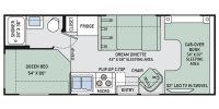 2015 Freedom Elite 23H Floor Plan