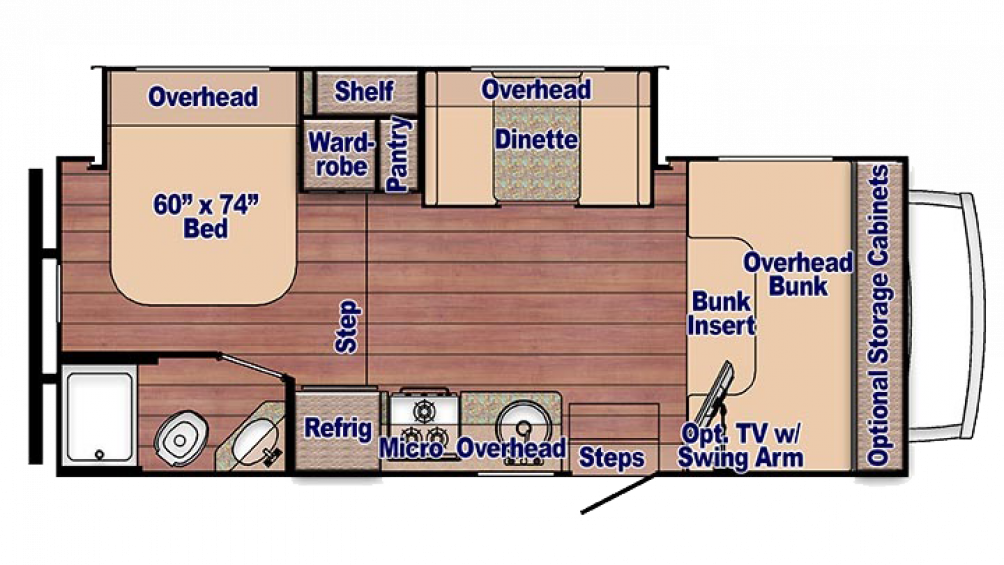 2018 Conquest 6245 Floor Plan Img