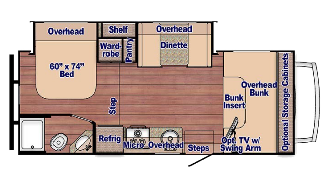 2020 Conquest 6245 Floor Plan