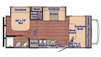 2019 Conquest 6245 Floor Plan