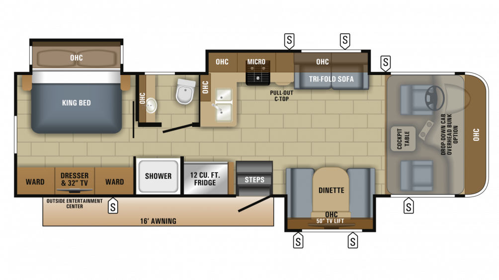 2018 Precept 31UL Floor Plan Img