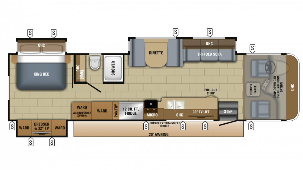 2018 Precept 35S Floor Plan Img