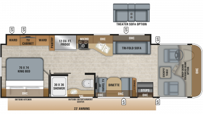 2019 Precept 29V Floor Plan Img
