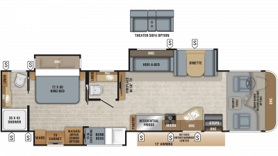 2019 Precept Prestige 36B Floor Plan Img