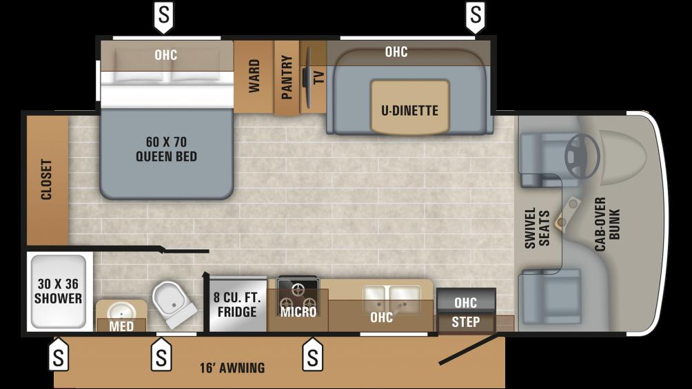 2019 Redhawk 24B Floor Plan Img