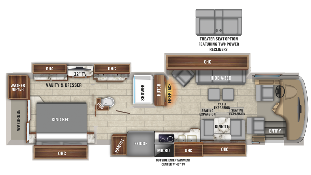 2020 Aspire 38M Floor Plan