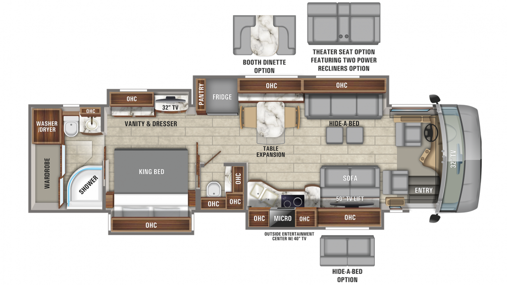 2020 Aspire 40P Floor Plan Img