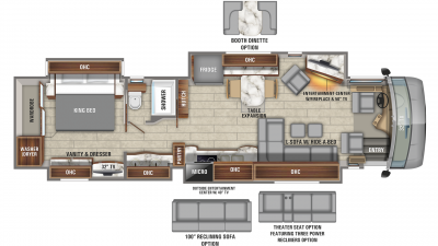 2020 Aspire 42DEQ Floor Plan Img