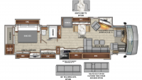 2020 Aspire 42DEQ Floor Plan