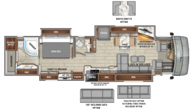 2020 Aspire 44B Floor Plan Img