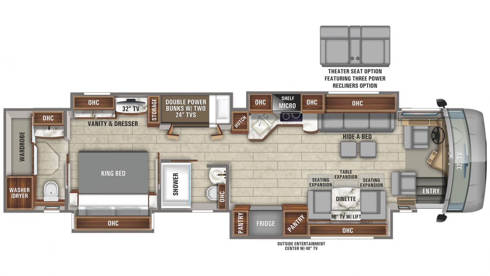 2020 Aspire 44R Floor Plan Img