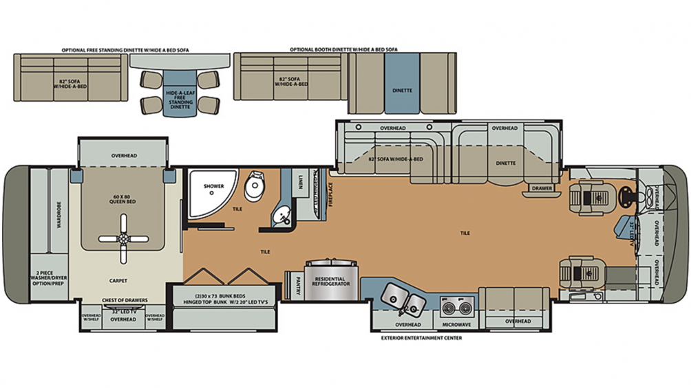 2020 Berkshire XL 40BH-380 Floor Plan Img
