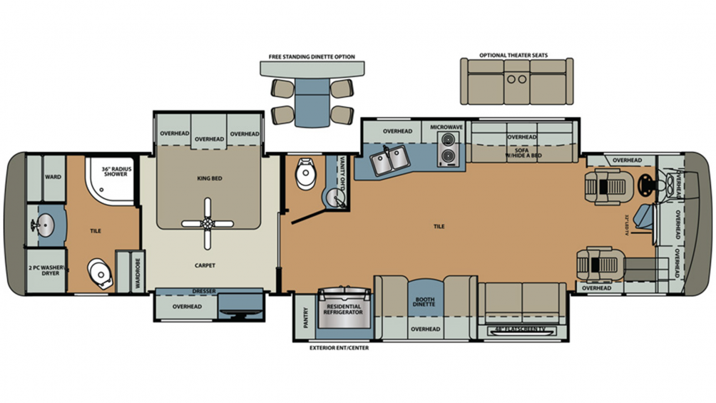 2020 Berkshire XL 40D-380 Floor Plan Img