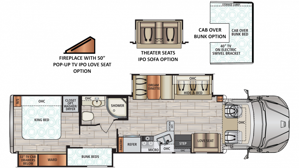 2020 DX3 37BH Floor Plan Img