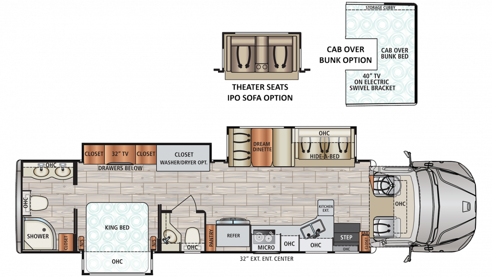 2020 DX3 37RB Floor Plan Img