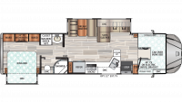 2020 Force HD 34KDHD Floor Plan