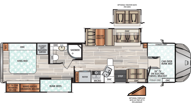 2020 Force HD 37BHHD Floor Plan