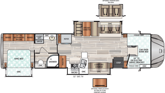 2020 Force HD 37TSHD Floor Plan