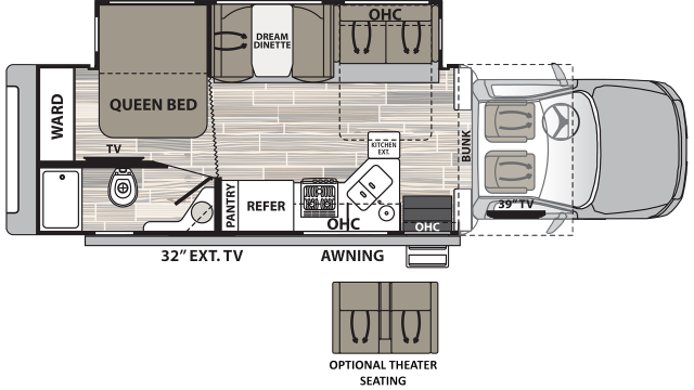 2020 Isata 5 30FWD Floor Plan