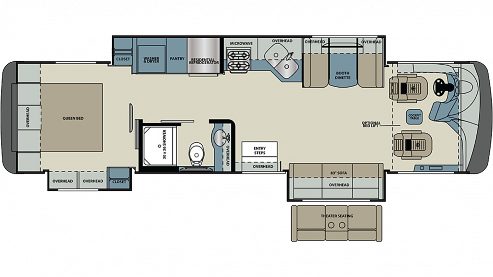 2020 Legacy 34A Floor Plan Img