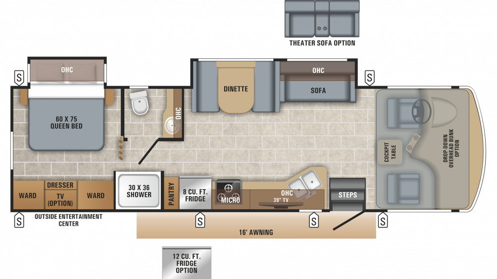 Alante 31V Floor Plan - 2020