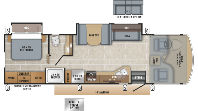 2020 Alante 31V Floor Plan