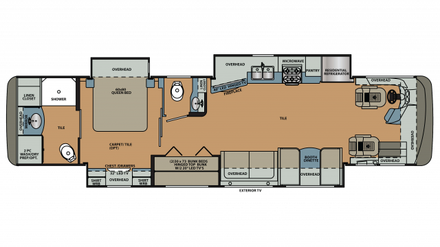 2018 Berkshire 38A-360 Floor Plan