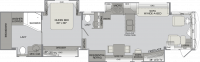 2016 Dynasty 45P Floor Plan