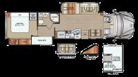2019 DX3 37BH Floor Plan