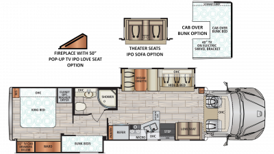 2019 DX3 37BH Floor Plan Img
