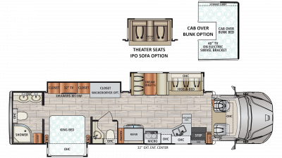 2019 DX3 37RB Floor Plan Img