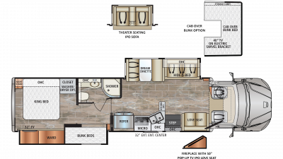 2019 DynaQuest XL 37BH Floor Plan Img