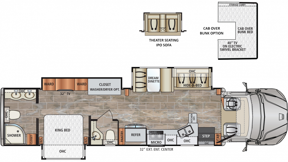 2019 DynaQuest XL 37RB Floor Plan Img