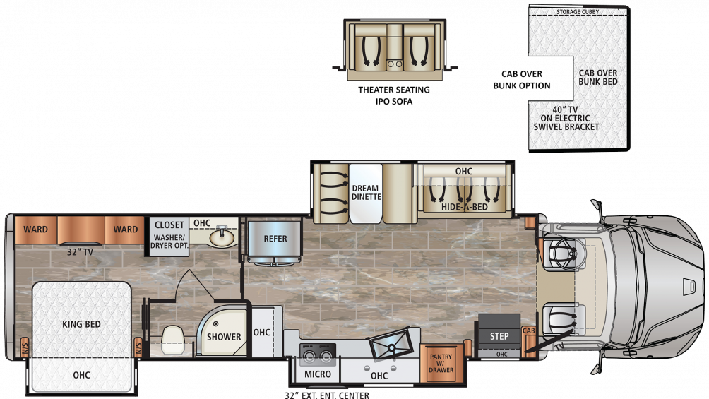 2019 DynaQuest XL 3800TS Floor Plan Img