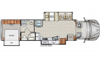 2019 DynaQuest XL 3800TS Floor Plan