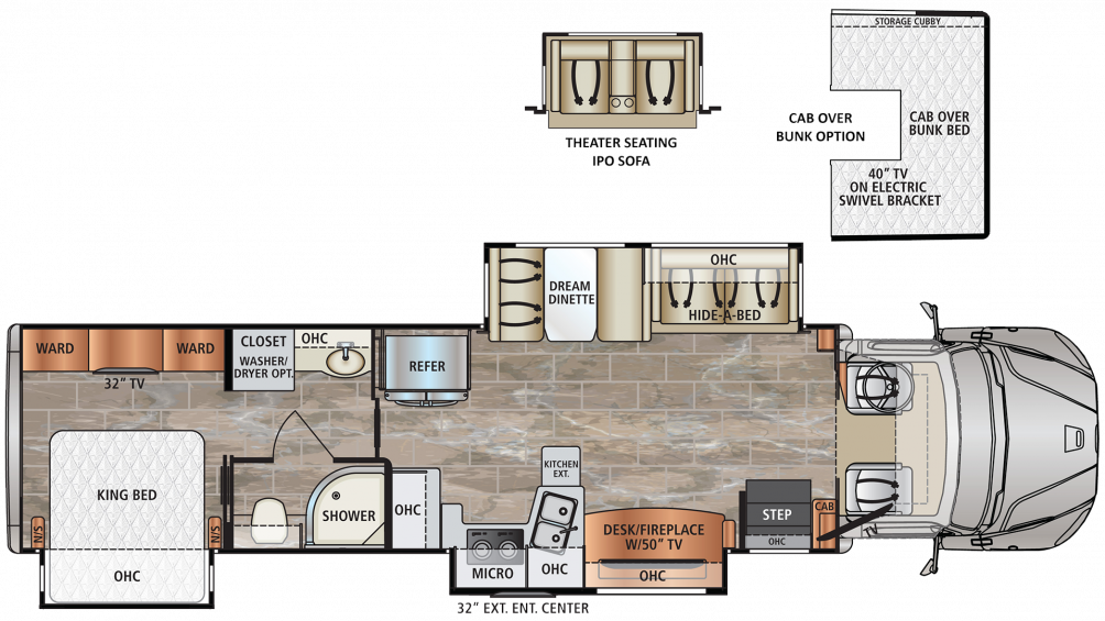 2019 DynaQuest XL 3801TS Floor Plan Img
